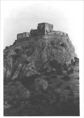 Castell de Quermançó de Vilajuïga. Torre del nord-est. Vilajuïga (Alt Empordà). Autor: Joan, Segur. AthenaPlus, Ajuntament de Girona.