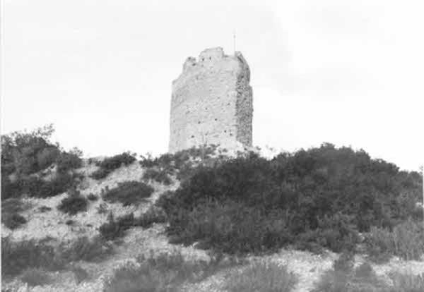Castell de Castellfollit de Riubregós. Castellfollit de Riubregós, (Anoia). 1985. Autor: Jordi Enrich i Po,  AthenaPlus, Generalitat de Catalunya. Departament de Cultura.