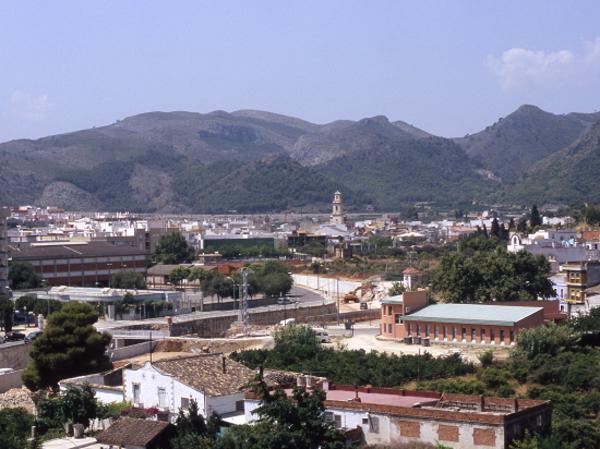 Vista de general de Beniopa i rodalies Gandia( la Safor) 2004. Autor: Rafa Andrés. Arxiu Històric de Gandia.