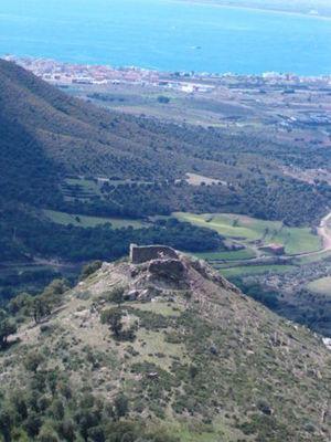 Imatge aèria del Castell de Bufalaranya (2005) Foto: http://www.rosespedia.cat/index.php/Castell_de_Bufalaranya