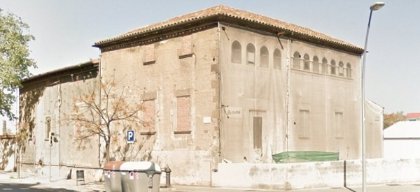 Imatge de les restes de la Torre del Fang, Sant Martí (Barcelona) 2017. Autor: Mercedes García