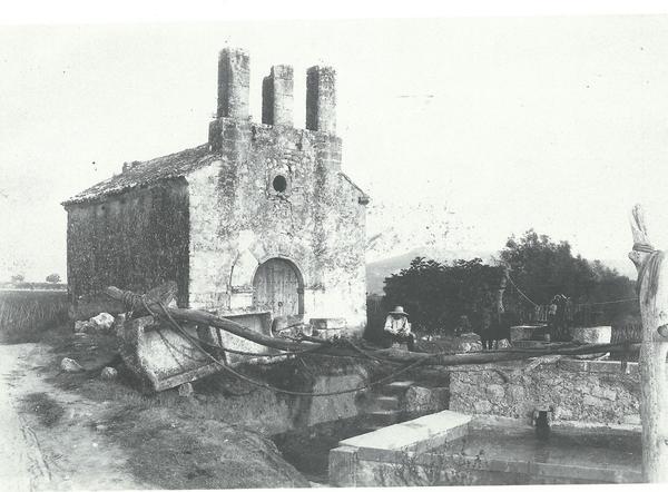Santa Maria dels Horts a principis del segle XX (Foto: Arxiu Vinseum).